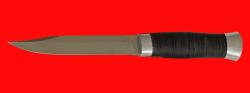 """Нож """"Разведчик-3"""", клинок сталь 95Х18, рукоять кожа, металл"""