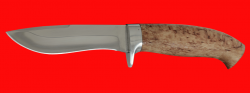 Охотничий нож Вальдшнеп-2, клинок сталь 65Х13, рукоять карельская берёза