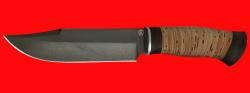 Нож Промысловый большой, клинок сталь D2, рукоять береста