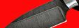"""Нож """"Черепаха"""", цельнометаллический, клинок дамасская сталь, рукоять венге"""