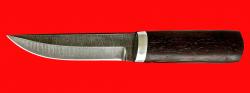 """Нож """"Росомаха"""", клинок дамасская сталь, рукоять венге"""