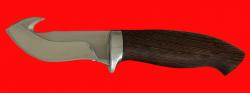 Охотничий нож Скиннер-2, клинок сталь 65Х13, рукоять венге