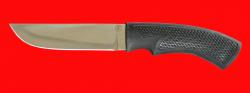 Нож Грибник, клинок сталь 95Х18, рукоять пластмасса (цвет черный)