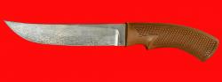 Нож Советский охотничий, клинок сталь Х12МФ, рукоять пластмасса (цвет коричневый)