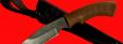 """Нож """"Охотничий-2"""", клинок сталь Х12МФ, рукоять пластмасса (цвет коричневый)"""
