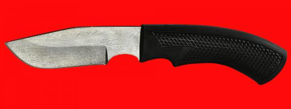 """Нож """"Охотничий-2"""", клинок сталь Х12МФ, рукоять пластмасса (цвет черный)"""