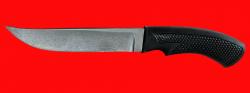 Нож Советский охотничий, клинок сталь Х12МФ, рукоять пластмасса (цвет черный)