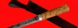 """Охотничий нож """"Эвенк"""", ручная ковка, клинок сталь У8, рукоять карельская берёза"""