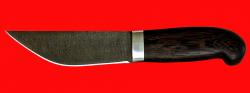 Нож Алтайский-2, клинок дамасская сталь, рукоять венге