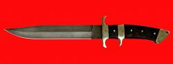 Нож Атака, клинок дамасская сталь, рукоять венге, мельхиор