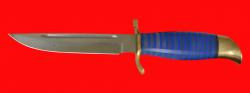 Нож Финка НКВД 001, клинок кованая сталь 95Х18, рукоять наборный пластик, латунь