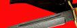 """Нож """"Финка НКВД"""" 003, клинок дамасская сталь, рукоять наборный пластик, латунь"""