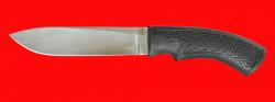 """Нож """"Русский охотничий"""", клинок сталь 95Х18, рукоять пластмасса (цвет черный)"""