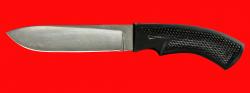 Нож Русский охотничий, клинок сталь Х12МФ, рукоять пластмасса (цвет черный)