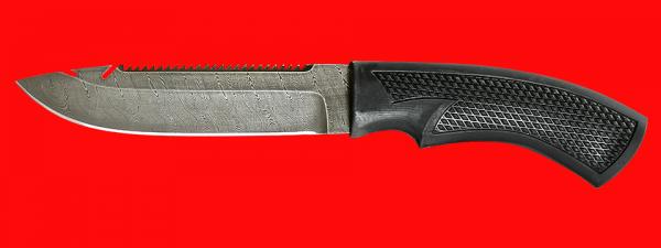 """Нож """"Рыбацкий-5"""", клинок дамасская сталь, рукоять пластмасса (цвет черный)"""