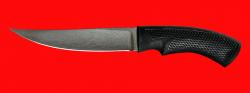 Нож Лис-2, клинок сталь Х12МФ, рукоять пластмасса (цвет черный)