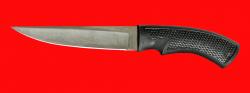 Нож Лис-3, клинок сталь Х12МФ, рукоять пластмасса (цвет черный)