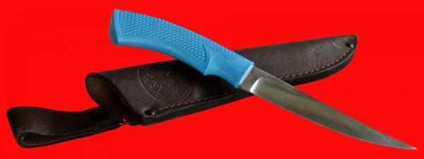 """Нож """"Лис-4"""", клинок сталь 95Х18, рукоять пластмасса (цвет голубой)"""