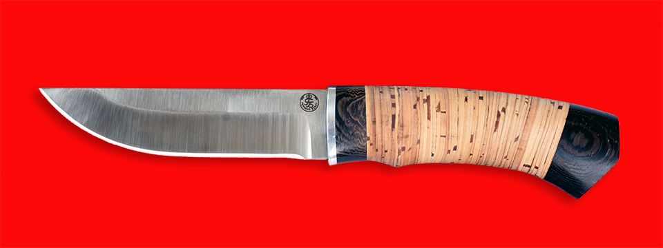 """Охотничий нож """"Бурундук"""", клинок порошковая сталь Vanadis 10, рукоять береста"""