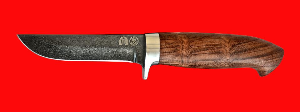 "Булатный нож ""Финский"", клинок тигельный булат, рукоять бубинга"