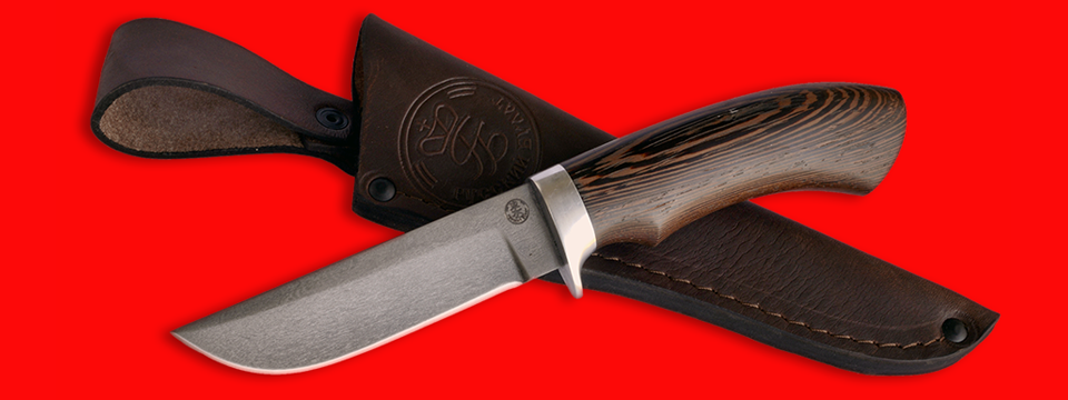 """Охотничий нож """"Грибник-2"""", клинок сталь D2, рукоять венге"""