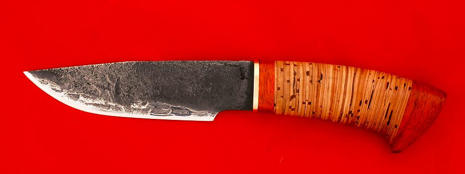 """Охотничий нож """"Рысь"""", клинок сталь 9ХС, рукоять береста"""