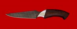 """Нож """"Аллигатор"""", клинок дамасская сталь, рукоять венге"""