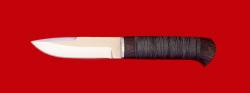 "Охотничий нож ""Архар"", клинок сталь 65Х13, рукоять кожа"