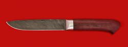 """Нож """"Карачаевский"""" (""""Бычак""""), клинок дамасская сталь, рукоять амарант"""