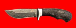 """Нож """"Филин"""", клинок тигельный булат, рукоять стабилизированная карельская берёза (цвет чёрный)"""