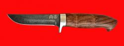 "Нож ""Финский"", клинок тигельный булат, рукоять бубинга"