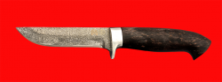 """Нож """"Финский"""", клинок тигельный булат, рукоять стабилизированная карельская берёза (цвет чёрный)"""