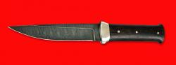 """Нож """"Гладиатор"""", цельнометаллический, клинок дамасская сталь, рукоять венге"""