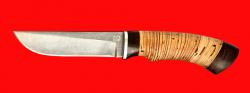 """Нож """"Грибник"""", клинок булатная нержавеющая сталь (нержавеющий булат), рукоять береста"""