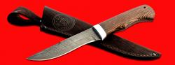 """Нож """"Кадет"""", клинок дамасская сталь, рукоять венге, с отверстием под темляк (ремешок)"""