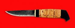 """Нож """"Карелия №1"""", ручная ковка, клинок сталь 9ХС, рукоять береста"""
