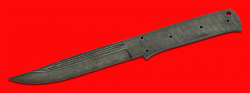 """Клинок для ножа """"Магадан"""", цельнометаллический, клинок дамасская сталь"""