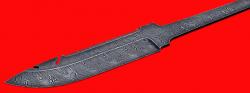 """Клинок для ножа """"Рыбацкий"""", клинок дамасская сталь"""