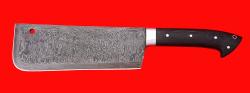 """Нож """"Тяпка мясницкая"""" удлиненная, цельнометаллическая, дамасская сталь, магнум"""