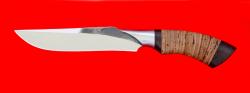 """Нож """"Питон"""", клинок сталь 95Х18, следы ковки, рукоять береста-венге"""