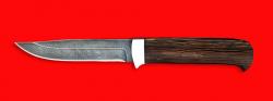 """Нож """"Пума"""", клинок дамасская сталь, рукоять венге"""