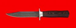 """Нож """"Разведчик"""", клинок дамасская сталь, рукоять венге"""