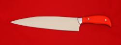 """Нож """"Шеф-повар малый"""", клинок сталь 95Х18, рукоять G10 (цвет оранжевый)"""