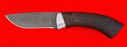 """Охотничий нож """"Снегирь"""", клинок дамасская сталь, рукоять венге"""