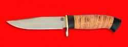 """Нож """"Сокол"""", клинок порошковая сталь Vanadis 10, рукоять береста"""