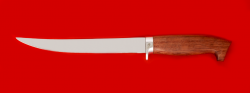 "Филейный нож ""Судак большой"", клинок сталь 65Х13, рукоять бубинга"