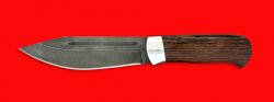 """Нож """"Тундра"""", клинок дамасская сталь, рукоять венге"""