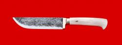 """Нож """"Узбекский"""" ручная ковка, клинок сталь 9ХС, рукоять лосиный рог"""