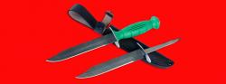 """Нож разведчика НР-43 """"Вишня"""", разборный, два клинка из дамасской стали, рукоять пластмасса"""